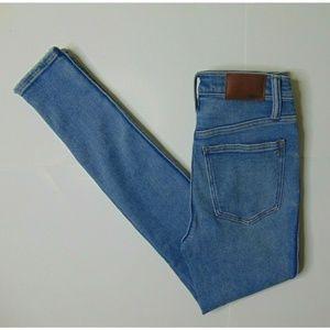 "Madwell 25 Blue Jeans 10"" High Riser Skinny"